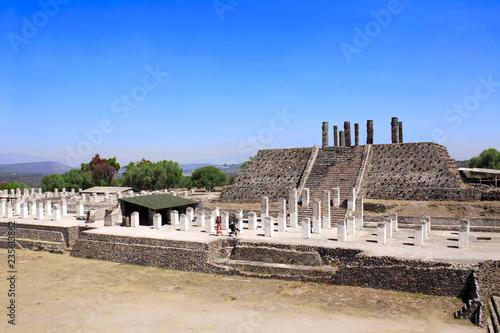 Tuinposter Centraal-Amerika Landen Toltec Atlantes, Tula de Allende, Hidalgo state, Mexico