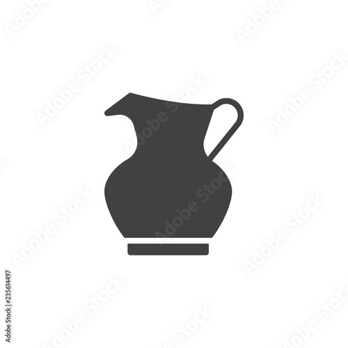 Fototapeta Hanukkah pitcher vector icon. filled flat sign for mobile concept and web design. Hebrew oil pitcher simple solid icon. Symbol, logo illustration. Pixel perfect vector graphics obraz