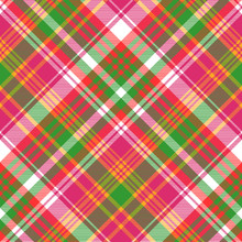 Pink Color Check Plaid Seamless Pattern