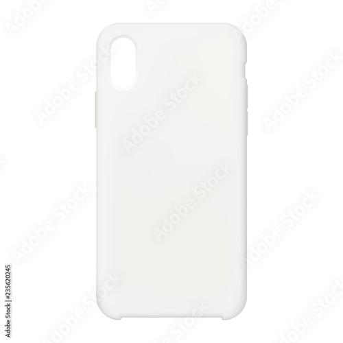 Smartphone case mock up - front view. Vector illustration Billede på lærred