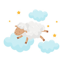 Cute Little Sheep Sleeping On ...