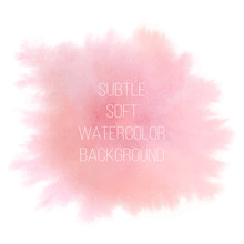 Colorful Abstract Vector Background. Soft Pink Watercolor Stain.