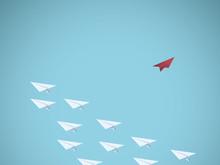 Paper Plane Leader Business Ve...
