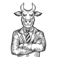 Bull Head Stock Exchange Worke...