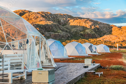 Photo Glamping tents in the Arctic on the Kola peninsula