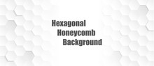 Abstract. Embossed Hexagon , Honeycomb White Background ,light And Shadow ,Vector