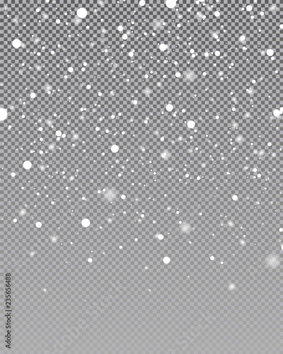 Fotomural Snow falling background