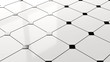 canvas print picture - 3D render - ceramic black and white kitchen/bathroom floor tiles background