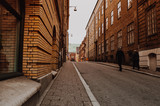 Fototapeta Uliczki - narrow street in Gothenburg, Sweden