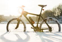 Winter Season Cycling. Black B...