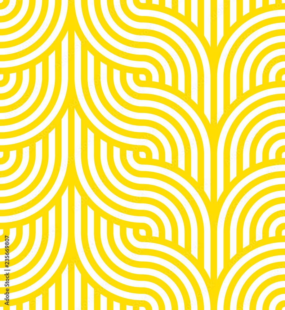 Photo  Vector yellow geometric pattern