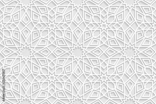 Εκτύπωση καμβά Vector white islamic horizontal background