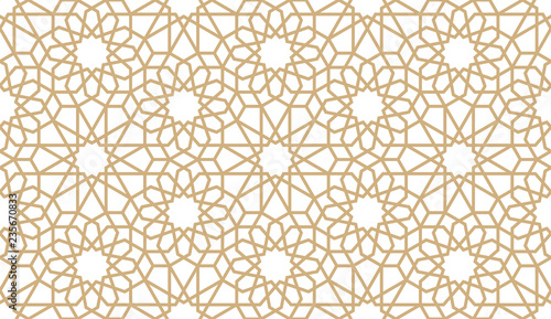 Seamless gold oriental pattern Canvas Print