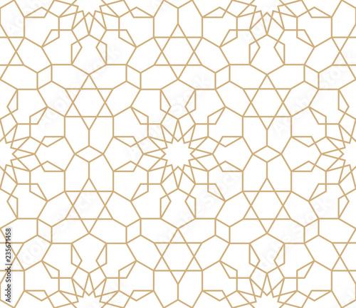 Seamless gold oriental pattern  Islamic background  Arabic