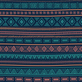 Seamless ethnic pattern. Tribal ornament. Striped geometric background drawing by hand. Vector illustration. - 235672013