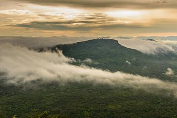 FototapetaFog Cover Mountains