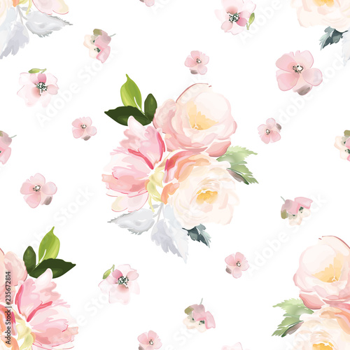 vector-seamless-pattern-with-flower-and-plants-in-watercolor-style