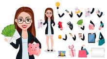 Business Woman Cartoon Charact...