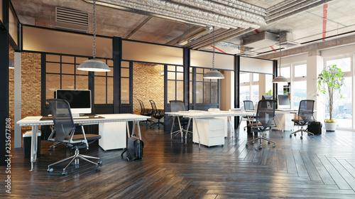 Canvastavla  modern office interior