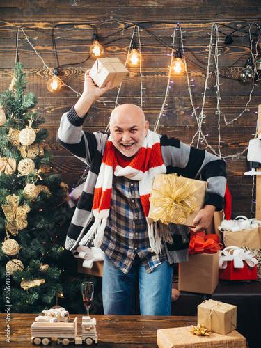 Fotografia  Santa claus in home