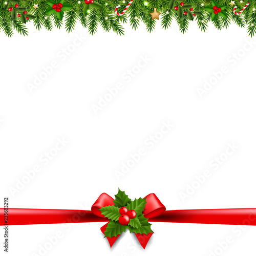 Christmas Borders Transparent Background , Buy this stock