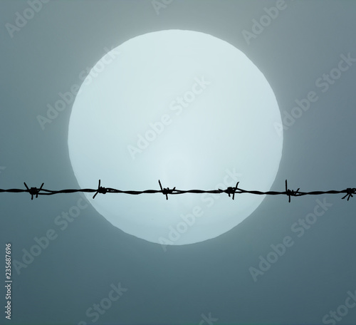 Photo  Barbed wire