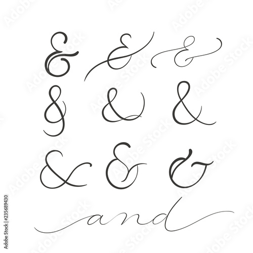 collection of decoration ampersands Canvas Print