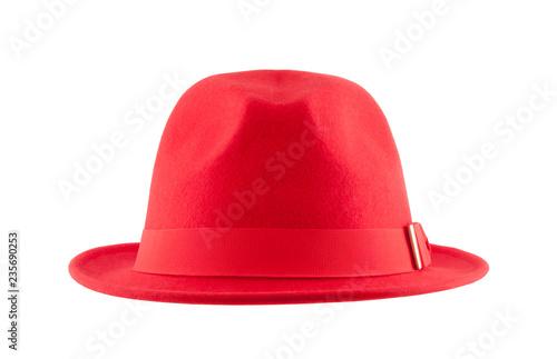 Obraz Red hat isolated on white background - fototapety do salonu