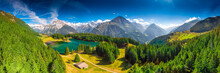 Areal View Of Arnisee With Swi...