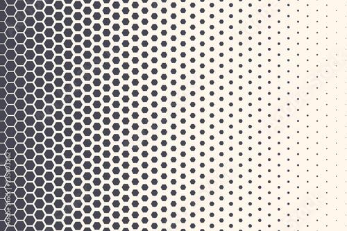 Hexagon Vector Abstract Geometric Technology Background Fototapet