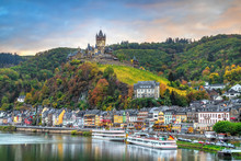 Cochem In Autumn, Germany. Cit...