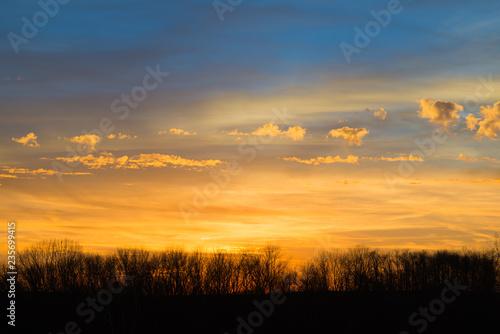 Spoed Fotobehang Oranje eclat Earl Winter Sunset, Kentucky #4