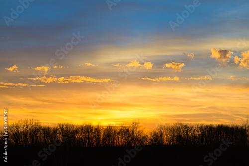 Spoed Fotobehang Oranje eclat Earl Winter Sunset, Kentucky #3