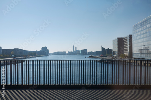 Copenhagen, Denmark - October 11, 2018 : View of Copenhagen from Langebro bridge Wallpaper Mural