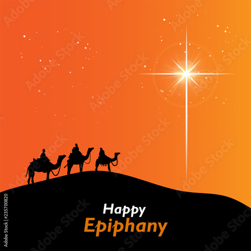 Epiphany (Epiphany is a Christian festival) Canvas Print