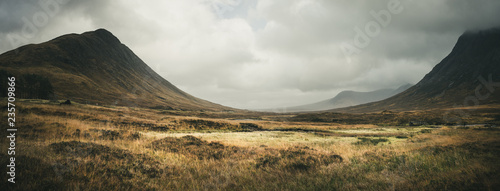 Fototapeta Paysage d'écosse dans les highlands Rannoch Moor obraz