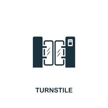 Turnstile Icon. Premium Style ...