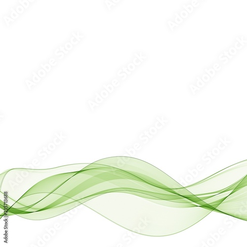 Vector illustration Abstract colorful background with green smoke wave. eps 10 Fototapete