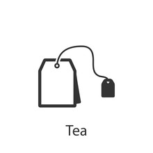Tea Bag Icon. Element Of Drink...