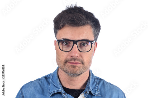Fotografie, Obraz  portrait of a  man on white background