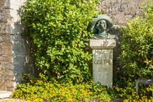 Bust Of Great German 18th Century Traveller And Writer Johann Wolfgang Von Goethe In Malcesine On Italy's Lake Garda