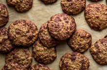 Close Up Of Coconut Oatmeal Sandwich Cookies