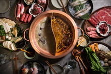 Hot Pot Meal In A Restaurant