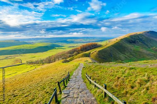rambling in the Derbyshire Peak district, UK