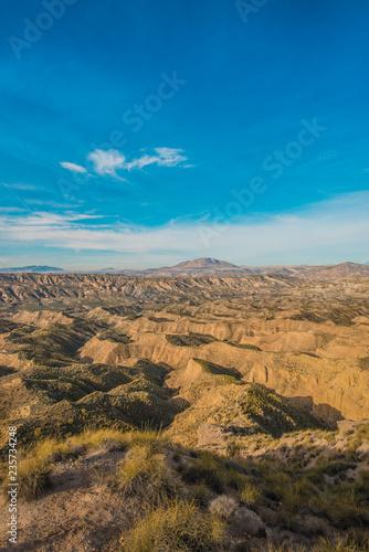Spoed Foto op Canvas Zuid-Amerika land Hoya de Guadix in Andalusia, Spain