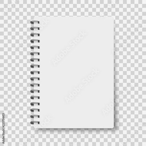 Notebook mockup, with place for your image, text or corporate identity details Canvas Print