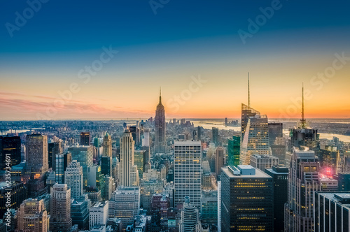 Fotomural  Downtown Manhattan in New York, United States.