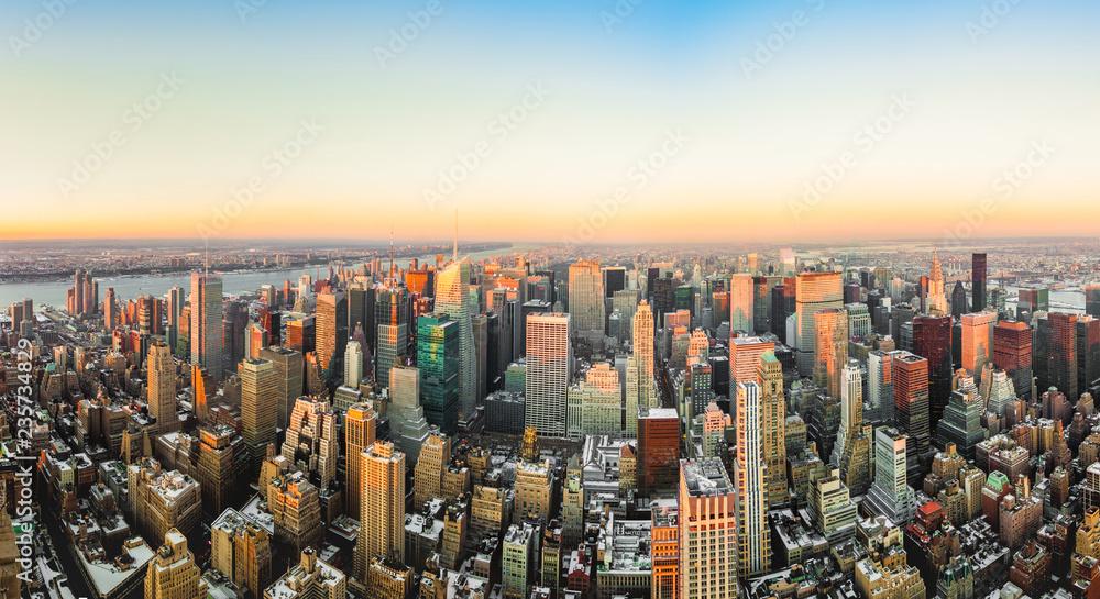 Fototapeta Upper Manhattan in New York, United States.