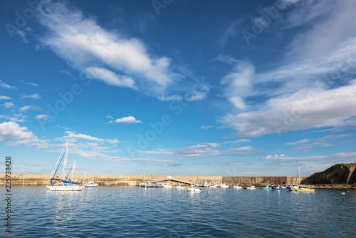 Foto op Aluminium Poort Cudillero port on a sunny day in Asturias, Spain.