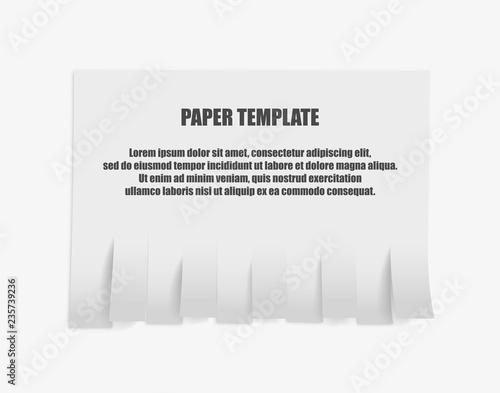 Fotografía  Tear off stripes of paper sheet